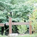 土間から四季を、呼吸する家の写真 庭 借景