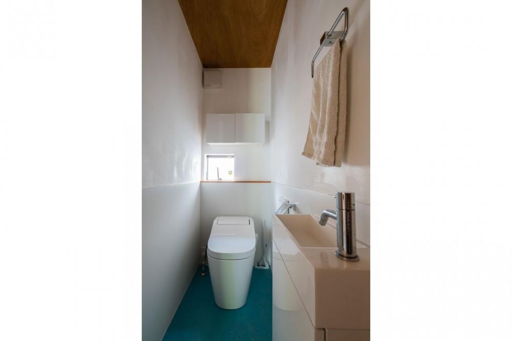土間から四季を、呼吸する家 -土間の暮らしと小屋のある家- (トイレ)