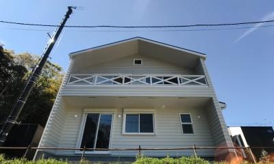 2階LDKだからこそ!明るく開放的な空間の家 (外観)