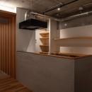 躯体を魅せる〜大阪市マンションリノベーション〜の写真 キッチン