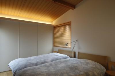 寝室 (緑に囲まれて暮らす家)