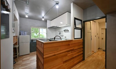 築50年の団地を再生                  ~子育て世代に優しい、明るく風通しの良い空間~ (キッチン)