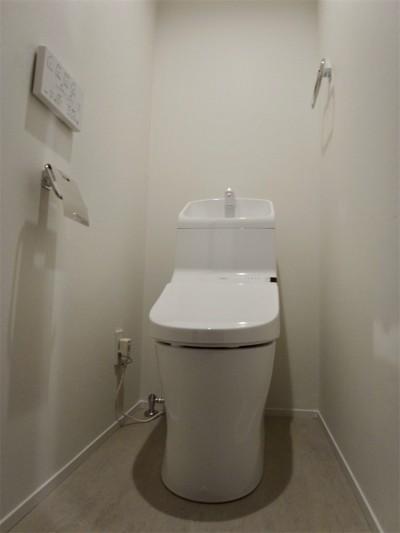 トイレ (ダークブラウンでまとめてシックに)