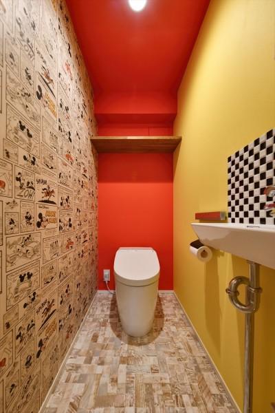 トイレ (I邸_くつろぎのSPORTS BAR)
