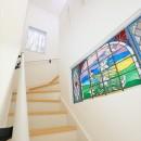 練馬・パティオのある光と風の家の写真 階段ホール
