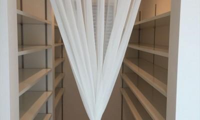 収納1階|練馬・パティオのある光と風の家