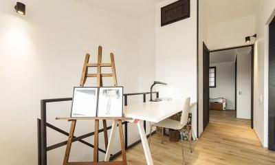 フリースペース|アレルギー反応を持つ子供が住むための和モダン住宅/美しい空気の家