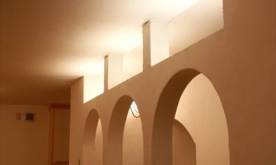 【吹田市】ウッドデッキをフル活用できる注文戸建て (廊下)