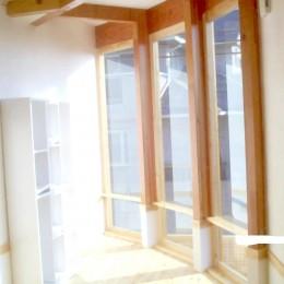 【吹田市】ウッドデッキをフル活用できる注文戸建て (大型窓)