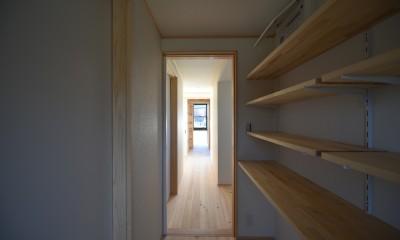 愛知の木組み (廊下)