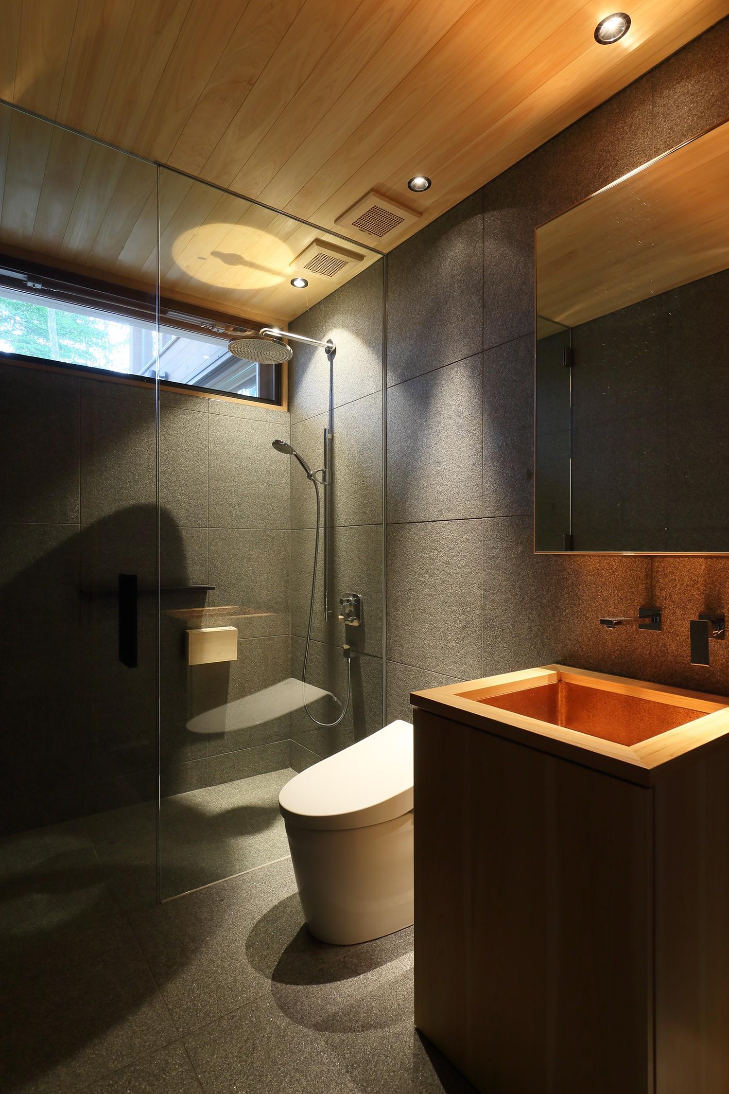 バス/トイレ事例:洗面所(OJ山荘)