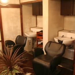 シャンプー室 (【摂津市 店舗】純和風の古民家の特長を最大活用しリノベーション)
