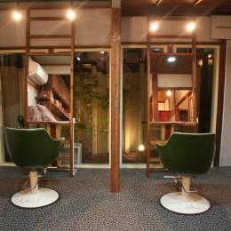 【摂津市 店舗】純和風の古民家の特長を最大活用しリノベーション (カット室)