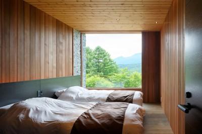 寝室 (太陽の森山荘)