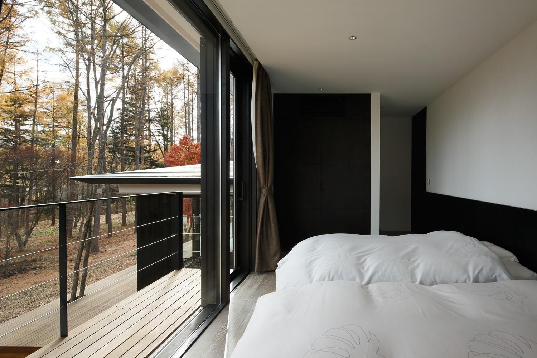 ベッドルーム事例:寝室(KB山荘)