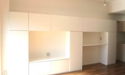 白を基調に空間を広く