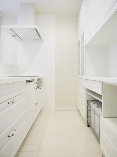 イメージが形となったフレンチクラシックの明るいお家 (キッチン)