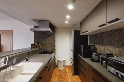 キッチン (M邸_二人のためのまったりヴィラ)