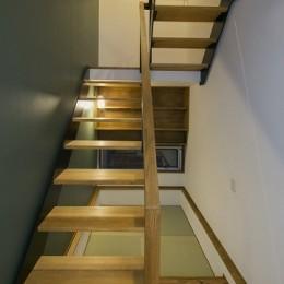 『稲葉の家』 (階段、書斎)