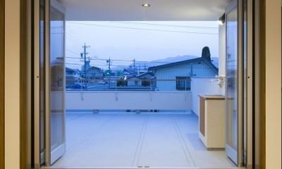『稲葉の家』 (ルーフバルコニー)