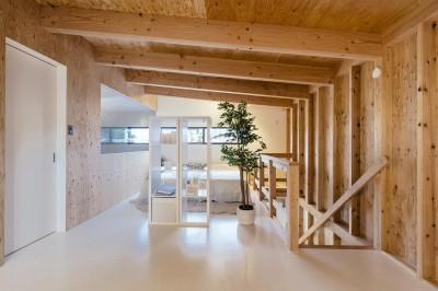 二階寝室スペース (小名浜テラスハウス)