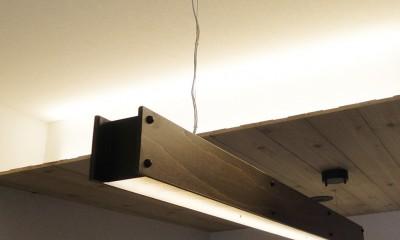 柔らかな灯りの間接照明 (ペンダントライト)