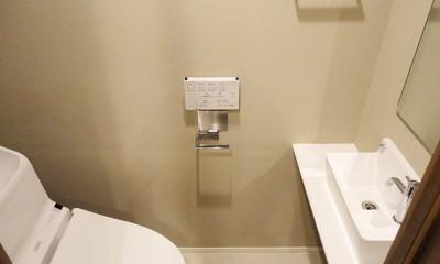 柔らかな灯りの間接照明 (トイレ)