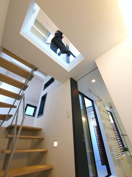 祖師谷の家の部屋 階段