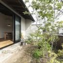 アレルギー反応を持つ子供が住むための和モダン住宅/美しい空気の家の写真 主庭