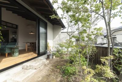アレルギー反応を持つ子供が住むための和モダン住宅/美しい空気の家 (主庭)