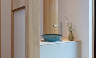 埼玉県北鴻巣の家 (玄関前手洗い)