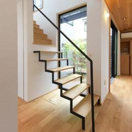 埼玉県北鴻巣の家 (階段)