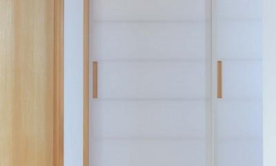 埼玉県北鴻巣の家 (和室へつながるふすま)