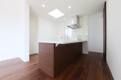 キッチン (リビングとロフトを一体にした家)