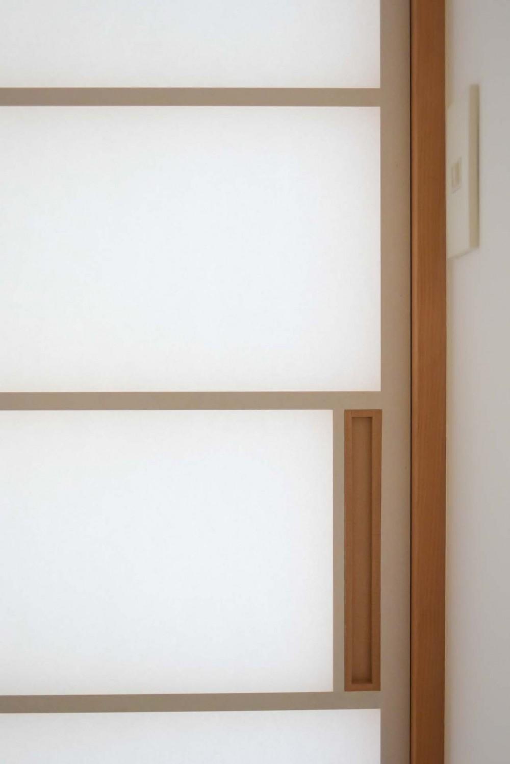 埼玉県北鴻巣の家 (障子の引き手)