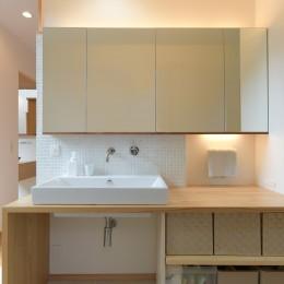 埼玉県北鴻巣の家 (明るい洗面室)