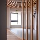 調布市のWさんの家の写真 木製ルーバーはツガです