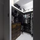 骨太キッチンが主役の家の写真 ウォークインクローゼット