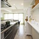 単身女性が優雅に快適に過ごすインテリアを模索してみた。の写真 キッチン