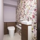 単身女性が優雅に快適に過ごすインテリアを模索してみた。の写真 トイレ