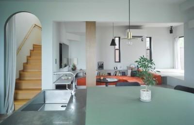 mellow lounge-家具を含めてトータルでコーディネート。エリアを絞った一戸建てリノベーション (リビングダイニング)