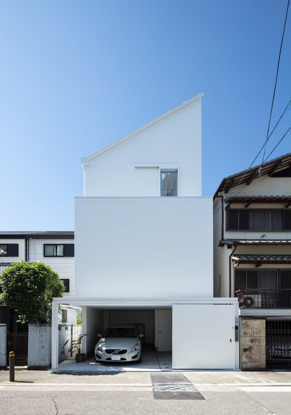 長居東の住宅 / House in Nagai-higashi (外観(北側道路より見る))