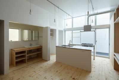 2階キッチン (長居東の住宅 / House in Nagai-higashi)