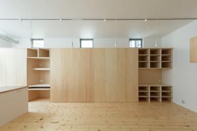 2階LDK 収納 (長居東の住宅 / House in Nagai-higashi)