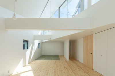3階 子供室 主寝室 (長居東の住宅 / House in Nagai-higashi)