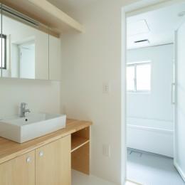 長居東の住宅 / House in Nagai-higashi (1階 洗面室)