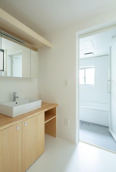 1階 洗面室 (長居東の住宅 / House in Nagai-higashi)