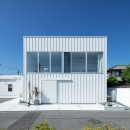 結崎の住宅 / House in Yuzakiの写真 外観(北東側公園より見る)