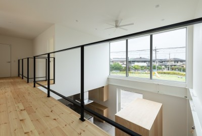 2階 吹抜 (結崎の住宅 / House in Yuzaki)