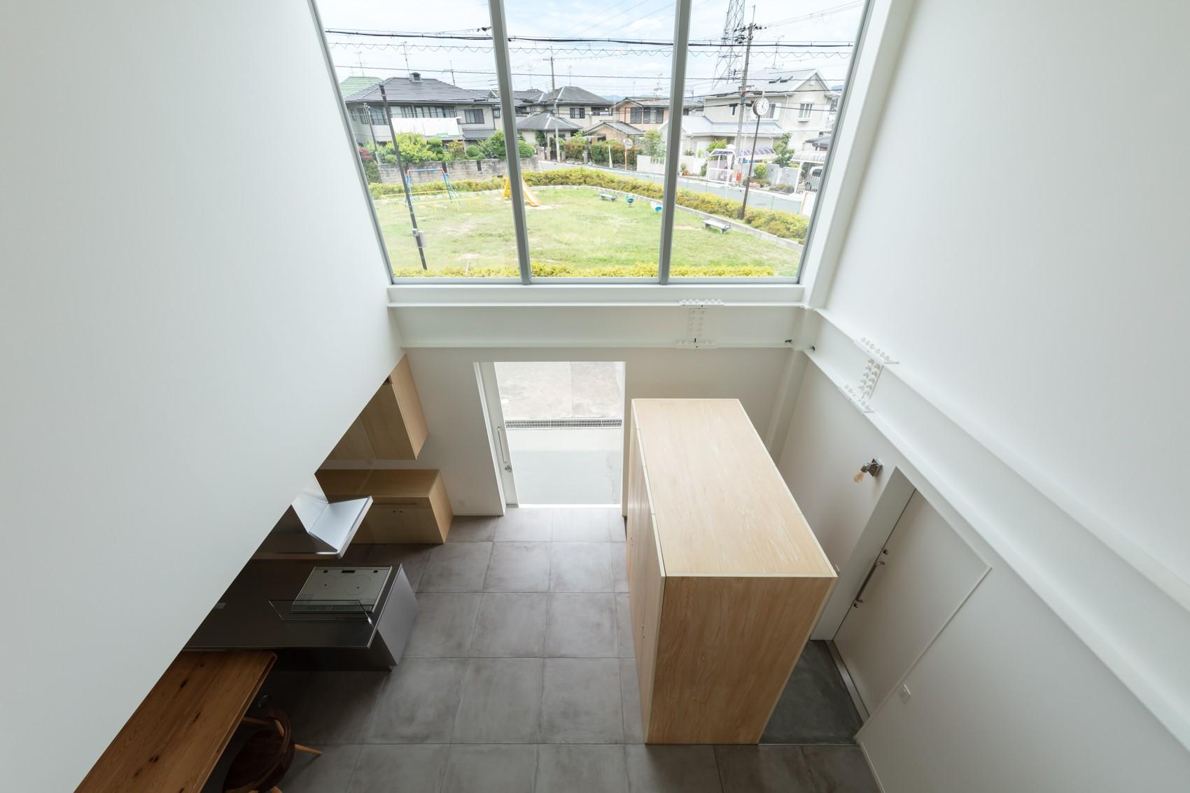 リビングダイニング事例:2階 吹抜(結崎の住宅 / House in Yuzaki)